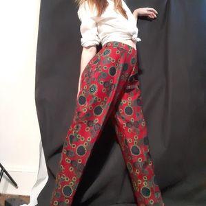 Vintage psychedelic batik print trousers